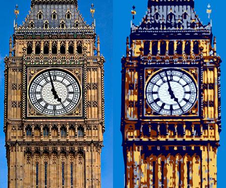 Big Ben, London photo and illustration