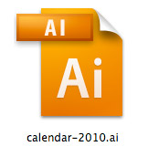2010 Calendar in Adobe Illustrator