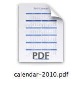 2010 Calendar in PDF format