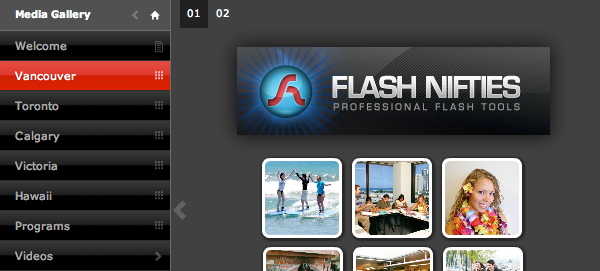 flashnifties screenshot and logo