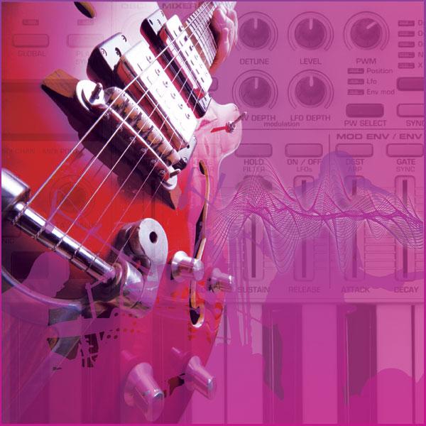 Rock music montage