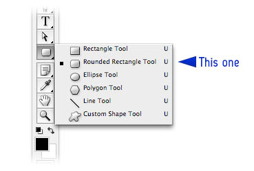 rounded rectangle tool photoshop