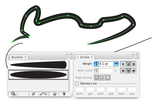 applying custom brushes in illustrator