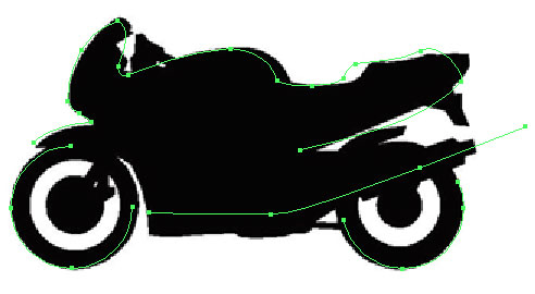 motorbike trace in Illustrator