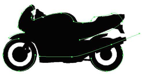 motorbike trace in Illustrator