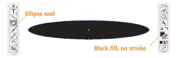 making an ellipse illustrator screenshot