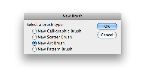 new art brush illustrator