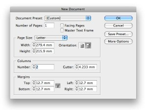 new document indesign screen shot