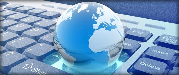 globe on a computer keyboard