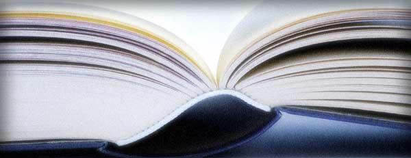 spine of a hard back book