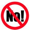 don't say no sign