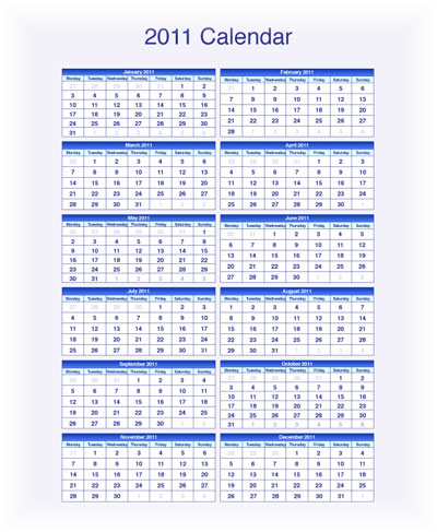 free 2011 calendars to download in pdf indesign and illustrator