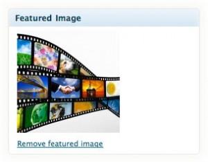 featured image box wordpress
