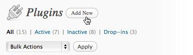 add new plugin wordpress