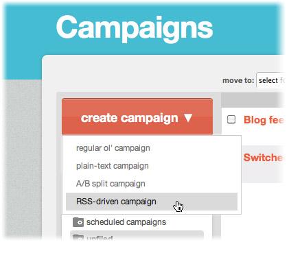 rss driven campaign mailchimp