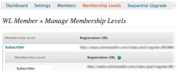 manage membership wishlist member
