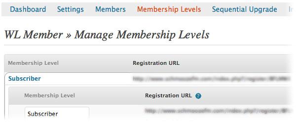manage membership wishlist member