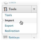 import at wordpress.org