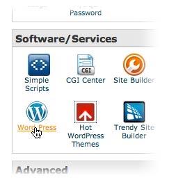 install wordpress one-click bluehost