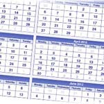 Free 2012 Calendars to Download as PDF, Illustrator and InDesign Files