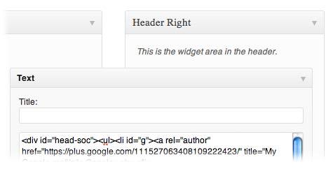 text-header-widget