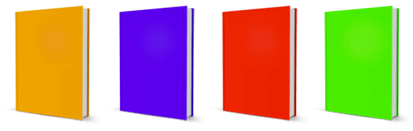 different colored ebooks