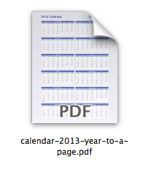 2013-calendar-on-one-page-pdf