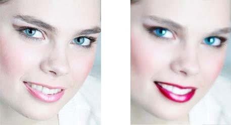 blurring model face