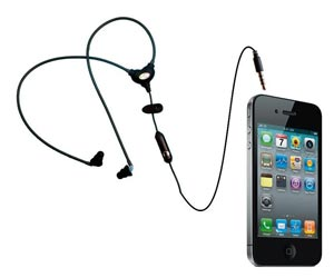 phone with earbuds