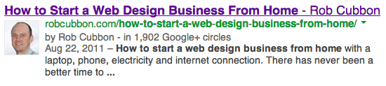 google authorship result