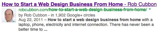 google authorship result