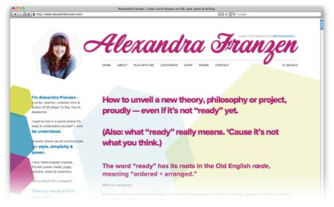 alexandra franzen website