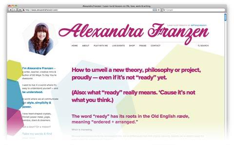 alexandra franzen website