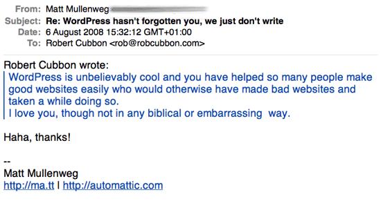 matt mullenweg email