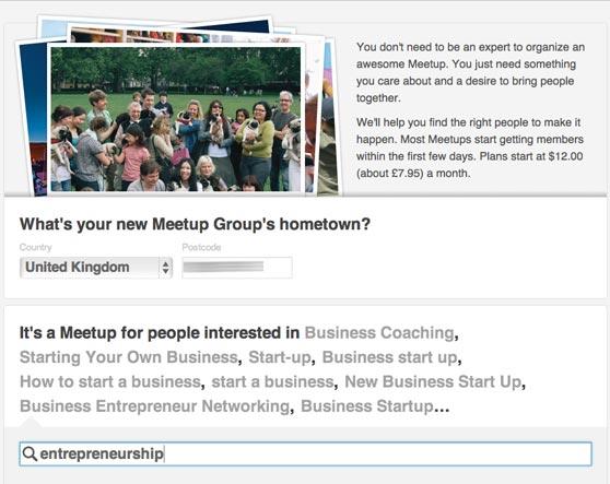 start a meetup