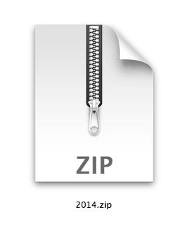 2014 calendars zip