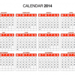 Free Download: 2014 Calendar in PDF, Illustrator (AI), InDesign (INDD) Format