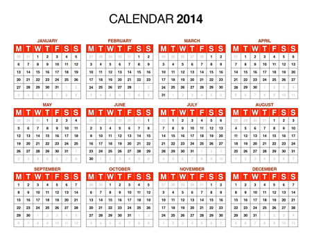 Free Download 2014 Calendar In Pdf Illustrator Ai Indesign