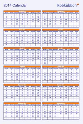 upright A4 calendar pdf
