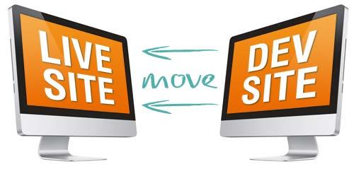 move dev site to live site