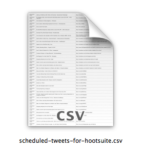 scheduled tweets for hootsuite csv