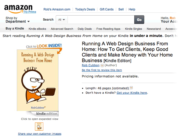 my book on amazon