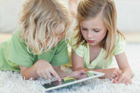 kids learning with an ipad