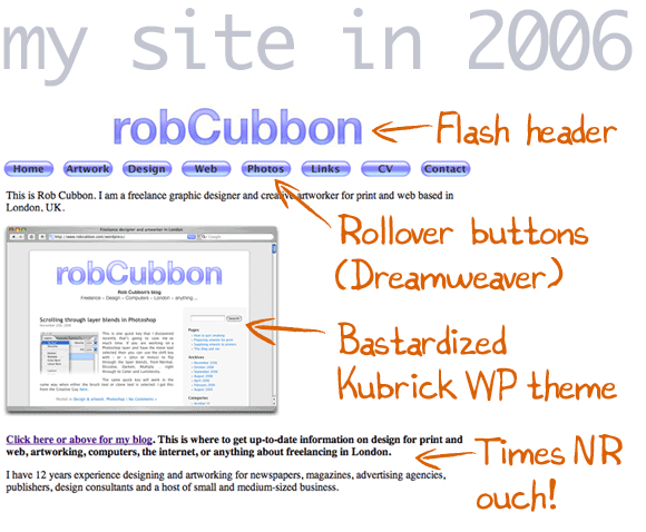 my site in 2006