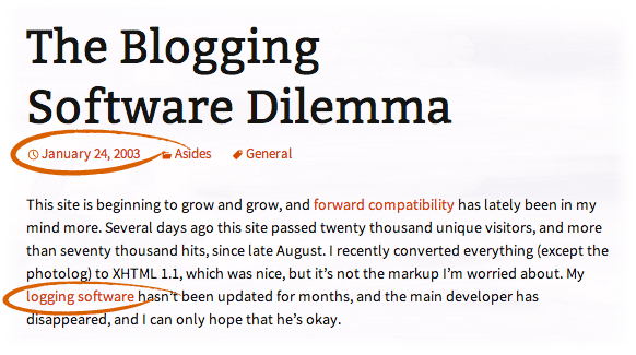 the blogging software dilemma