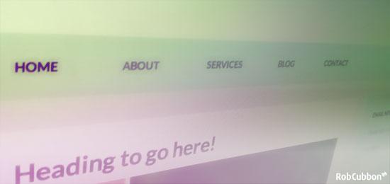 blog navigation menu