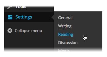 WordPress  Settings  Reading