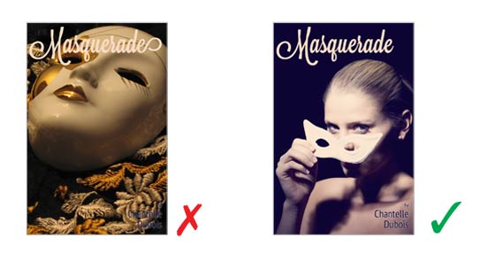 choose image with negative space two kindle cover examples