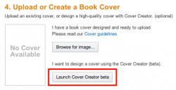 upload or create a book cover
