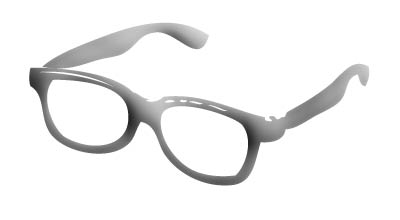 glasses to illustrate geekiness